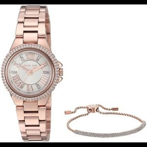 Michael Kors Petite Camille Stainless Steel Watch